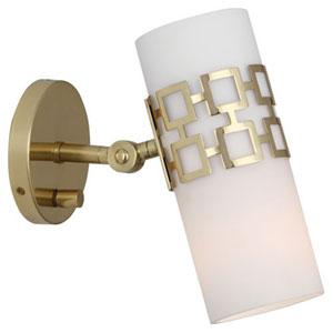 Jonathan Adler Parker Antique Brass One-Light Sconce