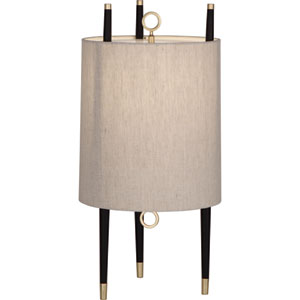 Jothan Adler Caan Antique Brass and Black Two-Light Floor Lamp