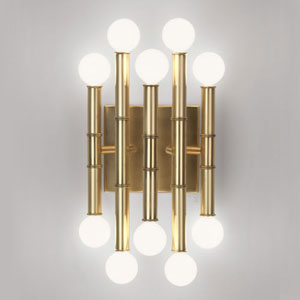 Jonathan Adler Meurice Antique Brass Ten-Light Sconce