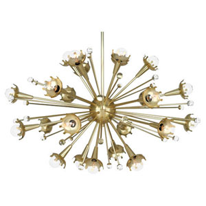 Jonathan Adler Sputnik Antique Brass 33.5-Inch 24-Light Chandelier