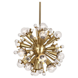 Jonathan Adler Sputnik Antique Brass 18-Light Chandelier