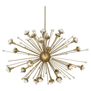 Jonathan Adler Sputnik Antique Brass 48-Inch 24-Light Chandelier