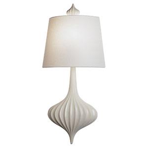 Jonathan Adler Gray-White One-Light Ceramic Sconce