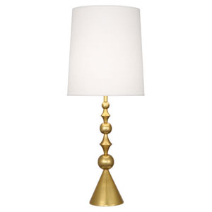 Jonathan Adler Harlequin Antique Brass One-Light Table Lamp