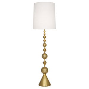Jonathan Adler Harlequin Antique Brass One-Light Floor Lamp