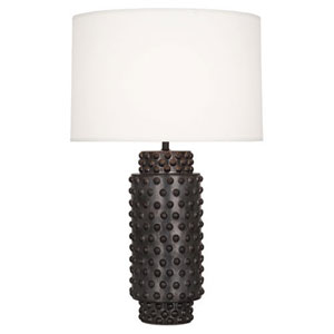 Dolly Gunmetal Ceramic Glaze 27.5-Inch One Light Table Lamp