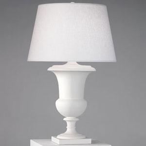 Helena Plaster White One-Light Table Lamp