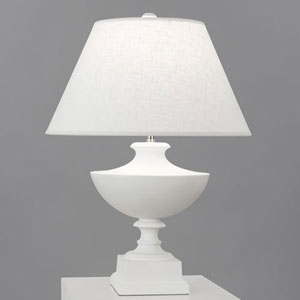 Freya Plaster White One-Light Table Lamp