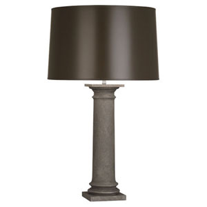 Phoebe Faux Limestone One-Light Table Lamp with Taupe Shade