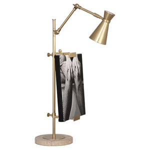 Jonathan Adler Bristol Antique Brass One-Light Desk Lamp
