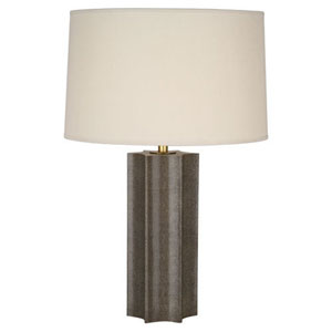 Anna Shagreen and Aged Brass 26-Inch One-Light Table Lamp
