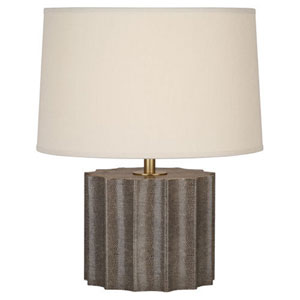 Anna Shagreen and Aged Brass 18-Inch One-Light Table Lamp