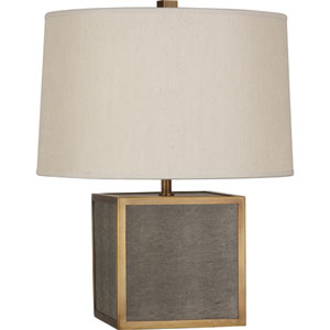 Anna Aged Brass One-Light 20-Inch Faux Snakeskin Table Lamp