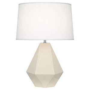 Delta Bone and Polished Nickel One-Light Table Lamp