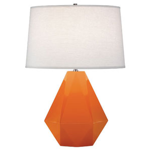 Delta Pumpkin and Polished Nickel One-Light Table Lamp