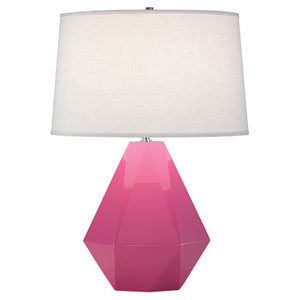 Delta Schiaparelli Pink and Polished Nickel One-Light Table Lamp