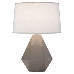 Delta Smokey Taupe and Polished Nickel One-Light Table Lamp