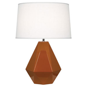 Delta Cinnamon and Polished Nickel One-Light Table Lamp