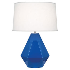 Delta Marine Blue and Polished Nickel One-Light Table Lamp