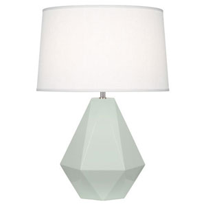 Delta Celadon and Polished Nickel One-Light Table Lamp