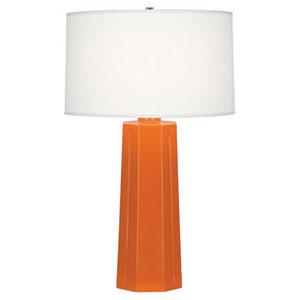 Mason Pumpkin and Polished Nickel One-Light Table Lamp