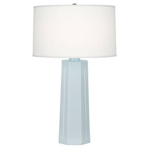 Mason Baby Blue and Polished Nickel One-Light Table Lamp
