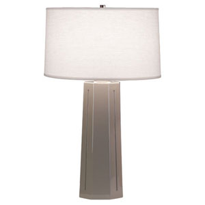 Mason Smokey Taupe and Polished Nickel One-Light Table Lamp