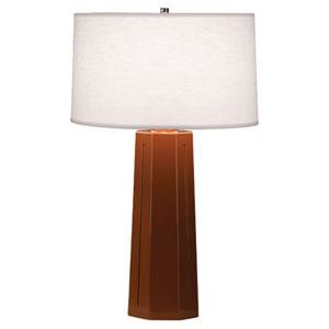 Mason Cinnamon and Polished Nickel One-Light Table Lamp