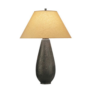Beaux Arts Rust One-Light Table Lamp with Golden Saki Shade