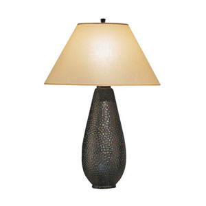 Beaux Arts Rust One-Light Table Lamp with Flax Parchment Shade