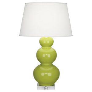 Triple Gourd Apple and Acrylic One-Light Table Lamp with Empire Shade