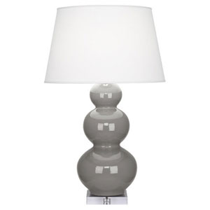 Triple Gourd Smokey Taupe One-Light Table Lamp