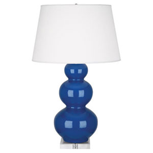 Triple Gourd Marine and Acrylic One-Light Table Lamp with Empire Shade