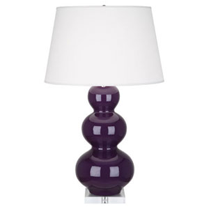 Triple Gourd Amethyst One-Light Table Lamp