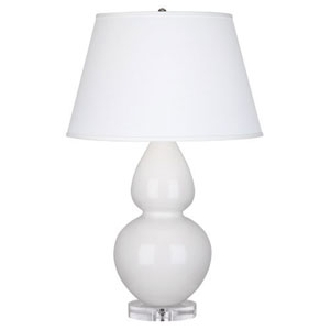 Double Gourd Lily One-Light Table Lamp with Empire Shade