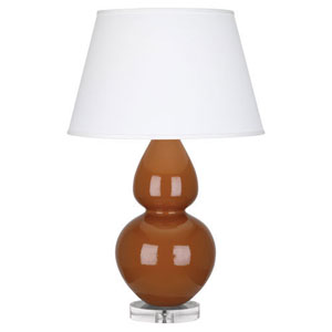 Double Gourd Cinnamon One-Light Table Lamp with Empire Shade