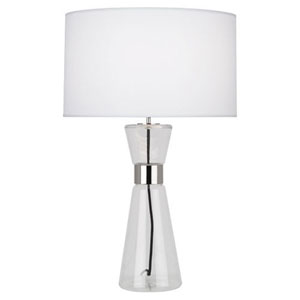 Penelope Clear Glass and Polished Nickel 30-Inch One-Light Table Lamp