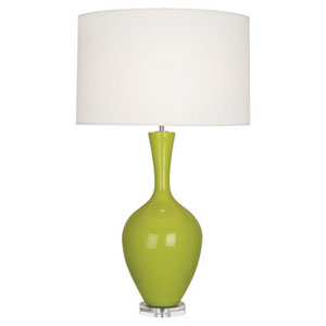 Audrey Polished Nickel and Apple One-Light Table Lamp