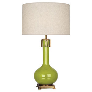 Athena Apple and Aged Brass One-Light Table Lamp