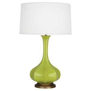 Pike Apple and Aged Brass One-Light Table Lamp