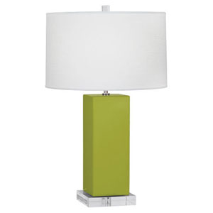 Harvey Apple and Polished Nickel 33-Inch One-Light Table Lamp