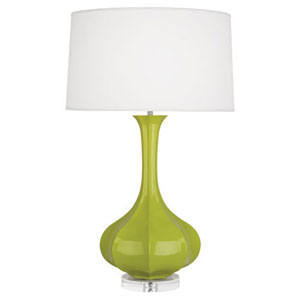 Pike Apple and Polished Nickel One-Light Table Lamp