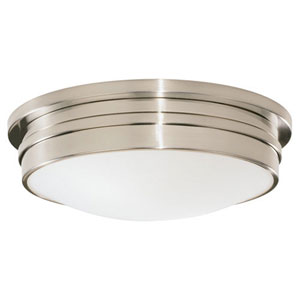 Roderick Antique Silver Three-Light Flush Mount