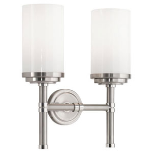 Halo Brushed and Polished Nickel Two-Light Vanity