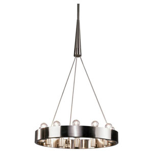 Rico Espinet Candelaria Satin Nickel Twelve-Light Chandelier