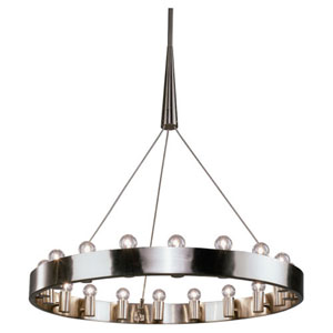 Rico Espinet Candelaria Satin Nickel 18-Light Chandelier
