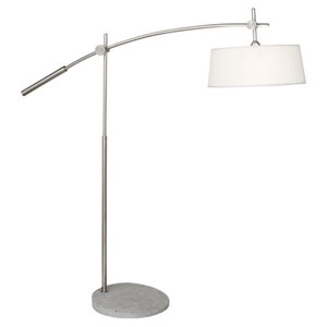 Rico Espinet Miles Brushed Nickel Two-Light Floor Lamp