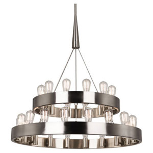 Rico Espinet Candelaria Satin Nickel 30-Light Chandelier