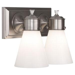Williamsburg Blaikley Brushed Nickel Two-Light Vanity