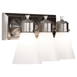 Williamsburg Blaikley Brushed Nickel Three-Light Vanity